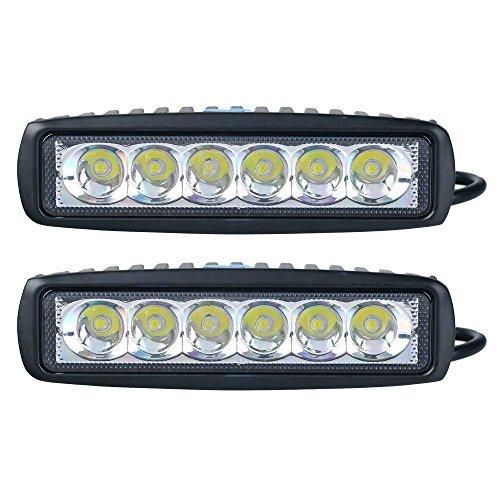SLPRO® 2X 18W LED Scheinwerfer Arbeitsscheinwerfer (90-Grad) Offroad Zusatzscheinwerfer 18W Car LED Work Light Auto Arbeitsleuchte Offroad Zusatzscheinwerfer 12V 24V IP67 Schwarz ATV SUV 4WD