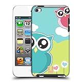 Head Case Designs Pink Und Blaue Liebes Eule Kawaii Serie 1 Ruckseite Hülle für Apple iPod Touch 4G 4th Gen