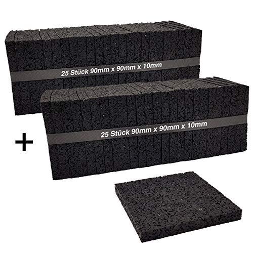 Preisvergleich Produktbild 50 Stück 10mm Terrassenpad,  Terrassenpads,  Gummigranulat,  Terrassenbau