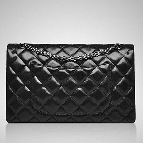 Macton , Sac pour femme à porter à l'épaule Noir noir Large Size(30CM) noir