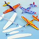 Baker Ross Gleitflugzeuge zum Spielen für Kinder – mit Filzstiften oder Bastelfarben bemalen – als Preis und Mitgebsel für den Kindergeburtstag (8 Stück)