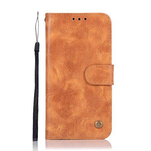 Chreey Schutzhülle für Samsung Galaxy A3 2016, Leder, mit Schlitz für Kreditkarten, Brieftasche