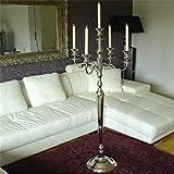 Dekowelten Kerzenleuchter Kerzenständer 150cm 5flammig Luxus - Version mit Samtfuß sehr schwer