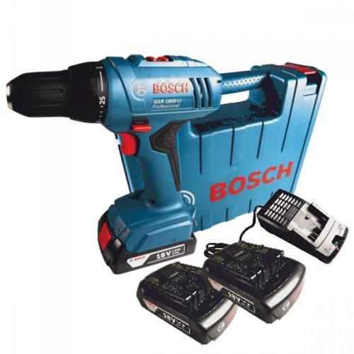 Bosch Akkuschrauber GSR1800-Li 2xLI-ION 18V Akku Bohrschrauber Bohrmaschine