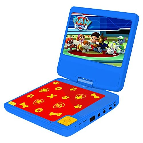 51HAd9beD L. SS500  - Lexibook DVDP6PA Paw Patrols Portable DVD Player with Car Adaptor and Remote