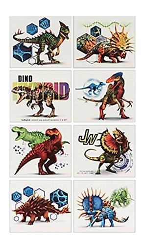 Jurassic World 8 Stück Tattoos Hybrid Saurier mit Motiven Kinder Hauttattoo abwaschbar