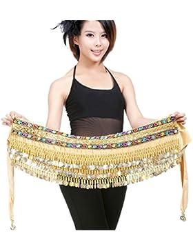YouPue Danza del vientre cinturón dancewear monedas de con lentejuelas y cinturón de monedas danza del vientre...