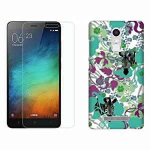 Design Worlds Tempered Glass + Back Cover Combo For Xiaomi Redmi Note 3