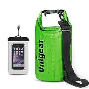Unigear Sacs Etanches pour Activités de Plein Air et Sports Aquatiques Camping Nautique Kayak Pêche avec une Pochette Etanche Téléphone