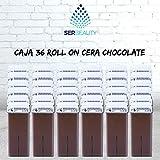 Caja 36 x Cera Roll On cartuchos de 100ml Chocolate/Alta calidad/Roll-on Cera para depilación