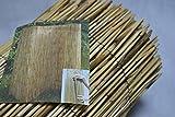 Schilfrohrmatte 100 x 600 cm Sichtschutz, dicht, Halm an Halm Garten Terasse