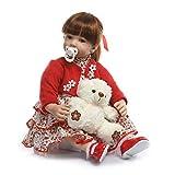 Terabithia 24' Grandi Dimensioni Principessa rinascita Bambole del Bambino in Vinile in Silicone Reale Fatti a Mano Capelli Lunghi farcito Panno Corpo Neonato Bambola Compleanno Regalo di Natale