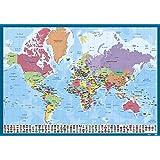 Erik® - Sous-Main Bureau Carte du Monde | Sous-Main Bureau Enfant | 34x49cm