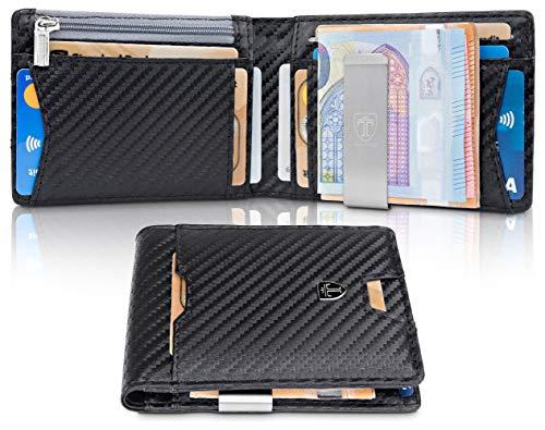 479db22cd3 TRAVANDO Portafoglio uomo piccolo sottile con Clip per Contanti AMSTERDAM  Protezione RFID Porta carte di credito