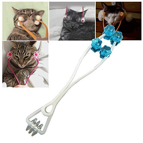 Aolvo Katze Massage Roller, dünn Face Massage Roller Relaxer, Füße Beine Massagegerät Relief Slimming Pflege Werkzeug für Haustier Katzen Hunde-Farbe Zufällige-Kleine