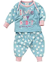 Lullaby Baby Girls I Love Mummy or Daddy Long Sleeve Pyjamas