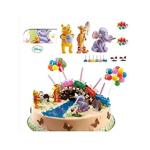 Kit PVC Winnie l'ourson - Déco Decoration gâteau Anniversaire - 790