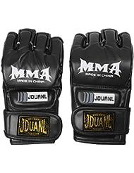 Demi-doigt Gants en Cuir PU pr Sport de Combat Thai Combattre Boxing Formation
