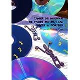 Cahier de Musique 96 pages 21x 29,7 cm Seyes & Portees: Interieur Seyes Grands Carreaux et Portees de Musique - Couverture Brillante Design 1