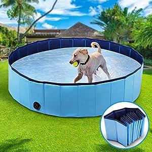 Winipet Vasca da Bagno per Cani, Piscina per Bambini, Lavandino Pieghevole per Animali Domestici con Antiscivolo in PVC Ecologico Resistente all'Usura