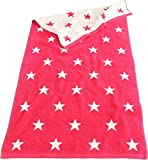 Lasa Handtuch Duschtuch Strandtuch Saunatuch Waschhandschuh Sterne (Gästetuch 33x50cm, pink)