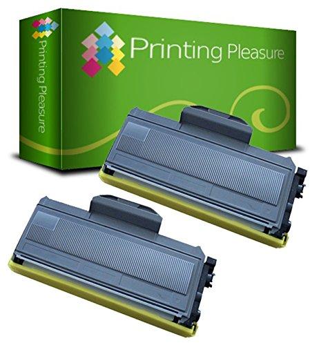 Printing Pleasure TN2110 TN2120 Kit 2 Toner Compatibili per Brother DCP-7030 DCP-7040 DCP-7045N HL-2140 HL-2150 HL-2150N HL-2170 HL-2170W MFC-7320 MFC-7340 MFC-7440N MFC-7840W, Nero