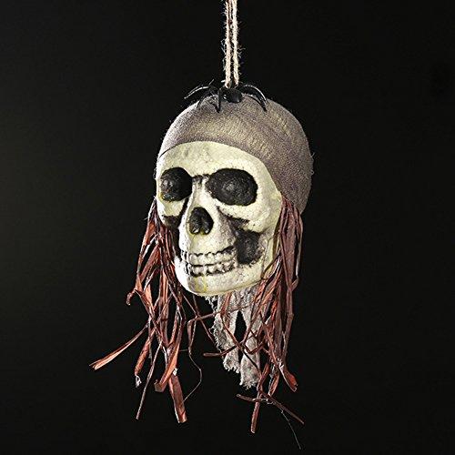 Zantec Halloween Scary Skull Hanging Ornaments Wand Tür Fenster Pendent Ghost Skeleton Requisiten Halloween Party Dekor Haunted Häuser Bars Dekorationen