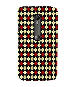 HiFi Designer Phone Back Case Cover Motorola Moto G3 :: Motorola Moto G (3rd Gen) :: Motorola Moto G3 Dual SIM ( Black Maroon Light Brown Colorful Pattern Design )