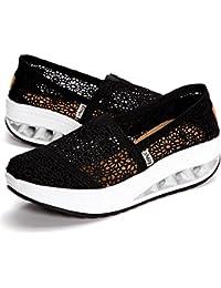 Gracosy Plataforma Zapatos Mujer Zapatillas Sneaker Cuña Summer Mesh Plataforma Sandalias Zapatos Para Caminar Para Mujeres Moda Cómodos Mocasines Casual Sneakers