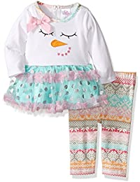 Youngland Baby Girls' Motif Tutu Dress and Nordic Legging
