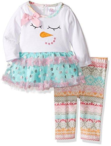 Youngland Entzückende Schneemann Tutu-Tunika + Legging Gr. 74,80,86,98,104,110,116 Größe 74 - Outfits Für Mädchen Youngland