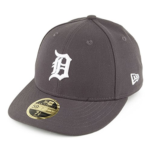 New Era 59FIFTY Detroit Tigers Cap - Poly Low Profile - Anthrazit - 7 1/8 (Profile Cap 3d Low)