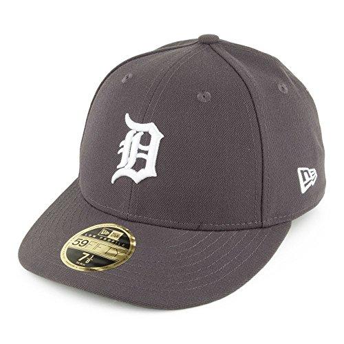 New Era 59FIFTY Detroit Tigers Cap - Poly Low Profile - Anthrazit - 7 1/8 (3d Cap Profile Low)