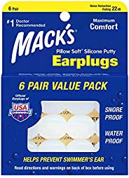 Mack's Pillow Soft Earplugs Value Pack 6 C