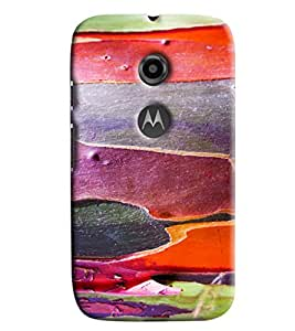 Blue Throat Rough Wax Pattern Printed Designer Back Cover For Moto E2