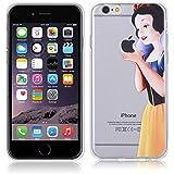 Fundas para iPhone 6 4.7'' Blancanieves Carcasa Case Gel Transparente con diseño personalizado, Cover Silicona TPU iPhone 6 4.7'' con Figura dibujos animados de Alta Resistencia y Flexibilidad kaser