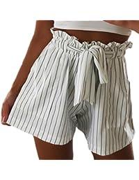 Amazon.fr   rayure ou rayé - Shorts et bermudas   Femme   Vêtements 521af4c3f66