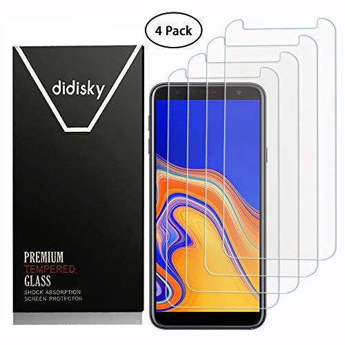 Didisky Vetro Temperato per Samsung Galaxy J4 Plus/J6 Plus, [4 Pezzi] Pellicola Protettiva [Tocco...