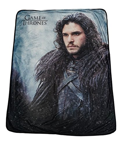 Game of Thrones weicher Fleece Überwurf Decke 116,8 x 152,4 cm mit Jon Snow