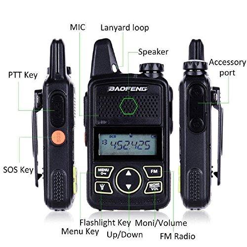 Mini UHF-Radio 400–470MHz FM Transceiver mit PTT Ohrhörer Hotel zivilen Radio Kommunikation - Fm Zwei-wege-radio