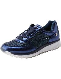 XTI 047331, Zapatos de Cordones Oxford para Mujer, Azul (Navy), 39 EU