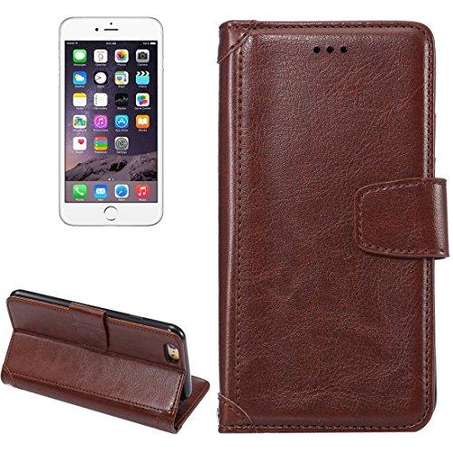 Phone case & Hülle Für iPhone 6 Plus / 6s Plus, Crazy Horse Texture Horizontale Flip Leder Tasche mit Halter & Card Slots & Wallet & Photo Frame ( Color : Red ) Brown