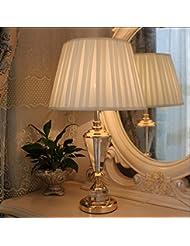 mesa de cristal de la lámpara de noche dormitorio de la lámpara de alto grado moderna sala de estar estilo minimalista lámparas sitio de la unión de tejidos decorativos (sin fuente de luz)