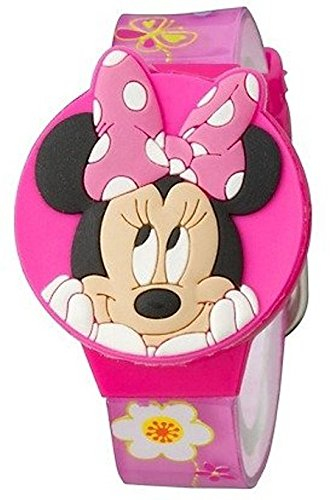 Disney Minnie Mouse Bow-tique Girls LCD Watch with Molded Flip-Top
