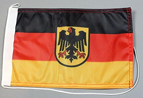 Bootsflagge Deutschland Dienstflagge Adler 20 x 30 cm in Profiqualität Flagge Motorradflagge