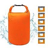 iOutdoor Products Borsa Impermeabile 2L/5L/10L/15L/20L/30L, Sacco a Compressione Dry Roll Top, Perfetto per Kayak/Canottaggio/Spiaggia/Pesca/Rafting/Nuoto/Camping/Snowboard (Orange, 70L)