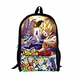 new Escuela Mochila Cartoon Casual Cartera de libros Backpack Popular Niños Dragon Ball rare