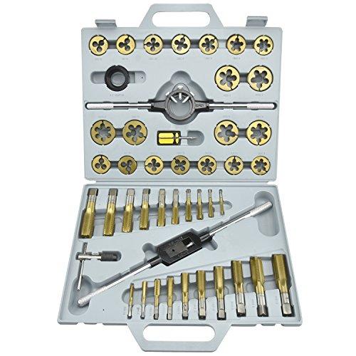 Neiko 00915 A 45 piezas Métricas y roscado de titanio