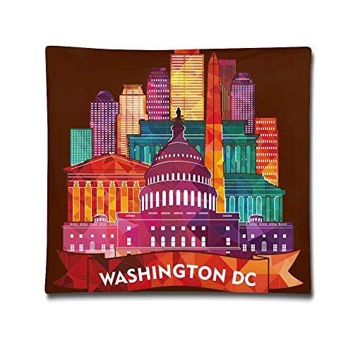 hanbaozhou Kissenbezüge Washington City Square Throw Pillow Case Cotton Decorative Pillowcase Cushion Cover for Sofa Bedroom 18