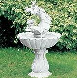 Brunnen aus Betonwerkstein inkl. Pumpe und Zubehör Säulenbrunnen Stufenbrunnen Steinbrunnen